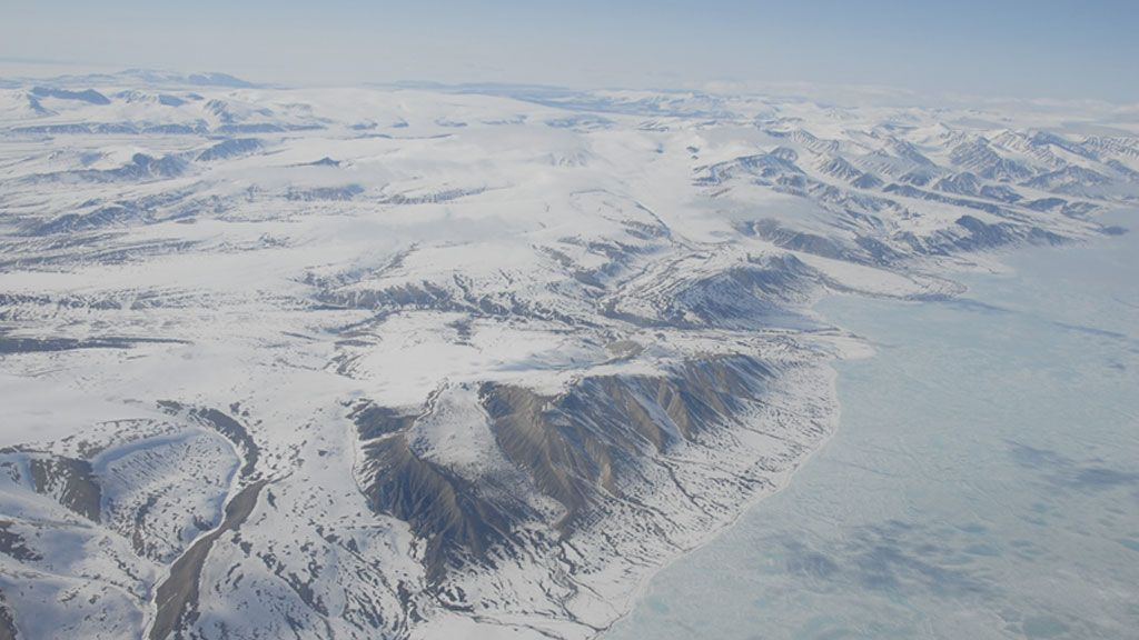 Sea ice along the coast of Greenland