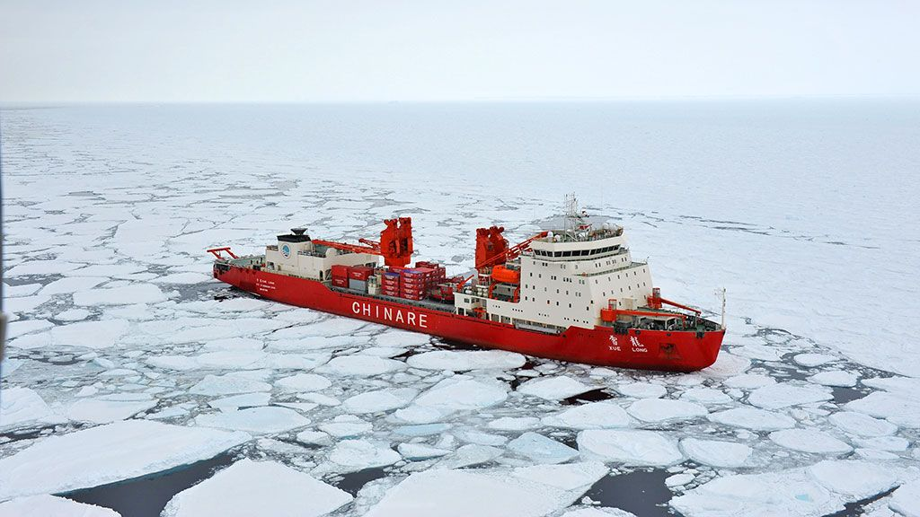 Xue Long in sea ice