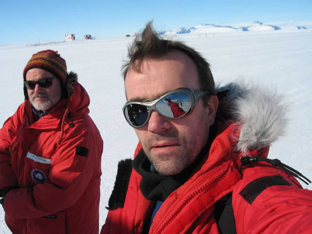 Professor Martin Siegert and colleague in the field in East Antarctica - © Martin Siegert