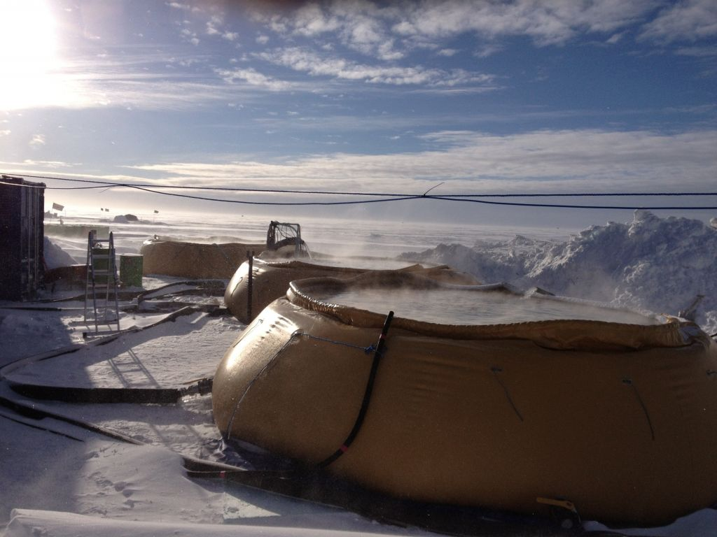 Water used in hot water drilling process - © Subglacial Lake Ellsworth Consortium