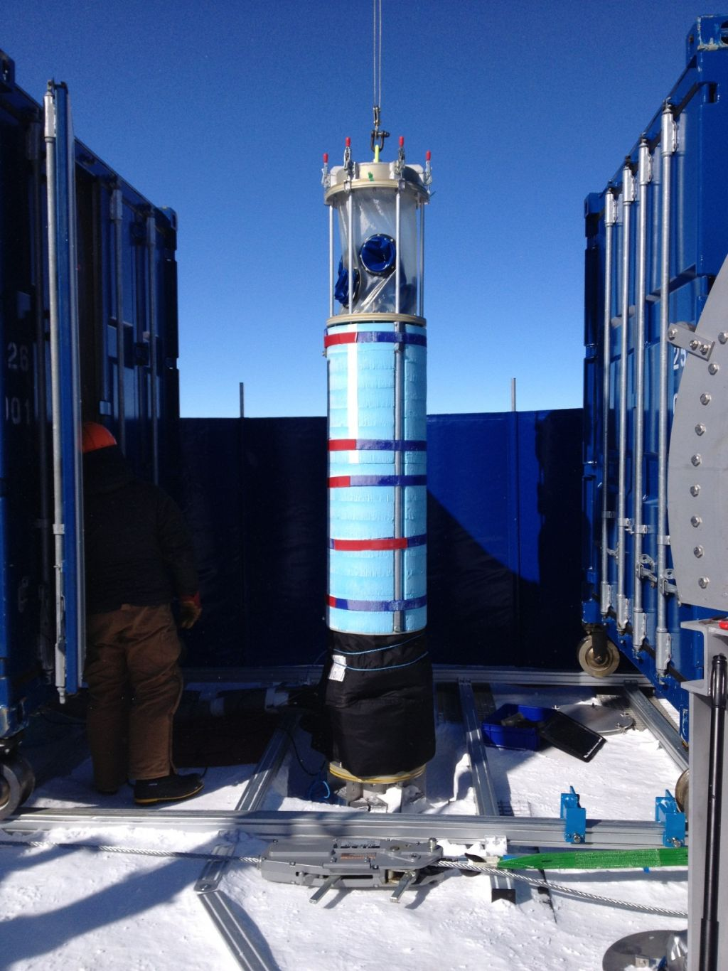 Drilling equipment - © Subglacial Lake Ellsworth Consortium