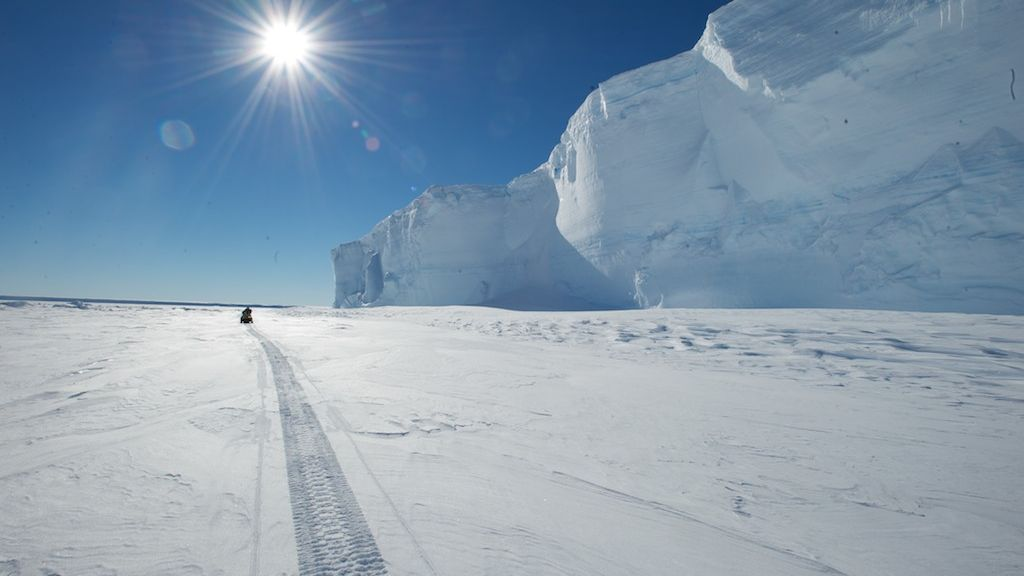 A view from the King Bauduoin Ice Shelf.