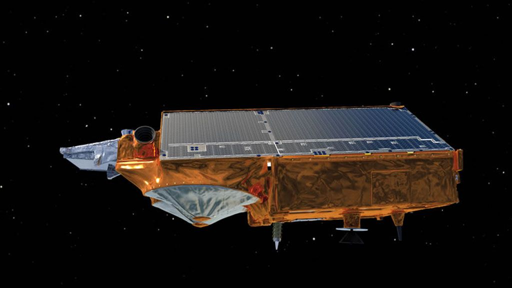 Side view of CryoSat-2