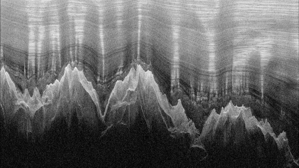 Radar profile of ghostly mountains