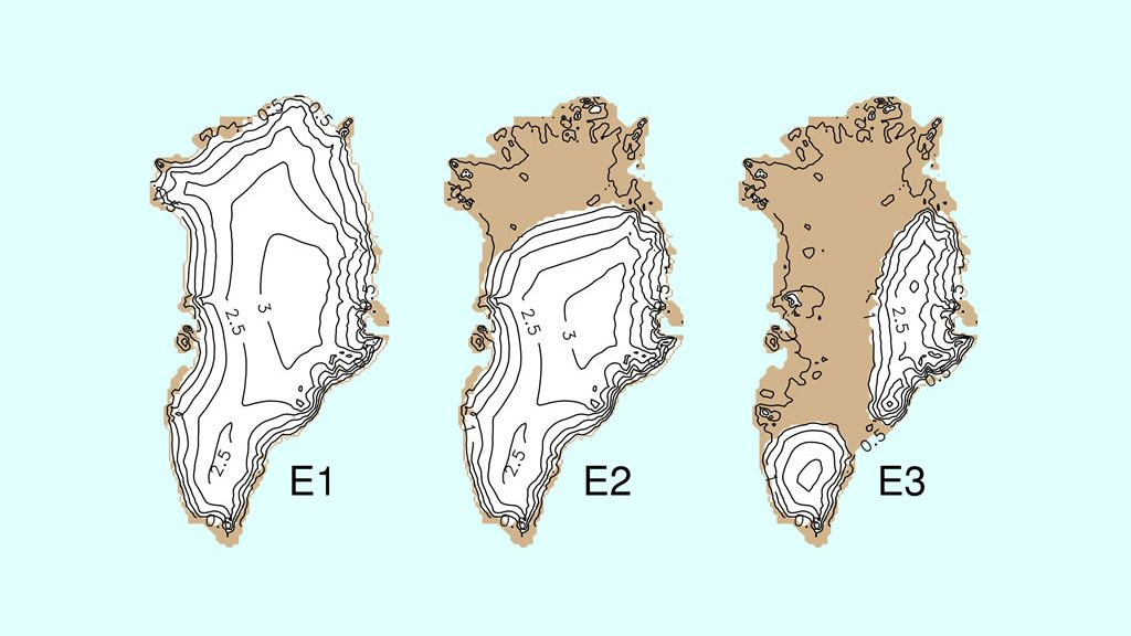 Possible future equilibrium states for the Greenland Ice Sheet - © Alexander Robinson