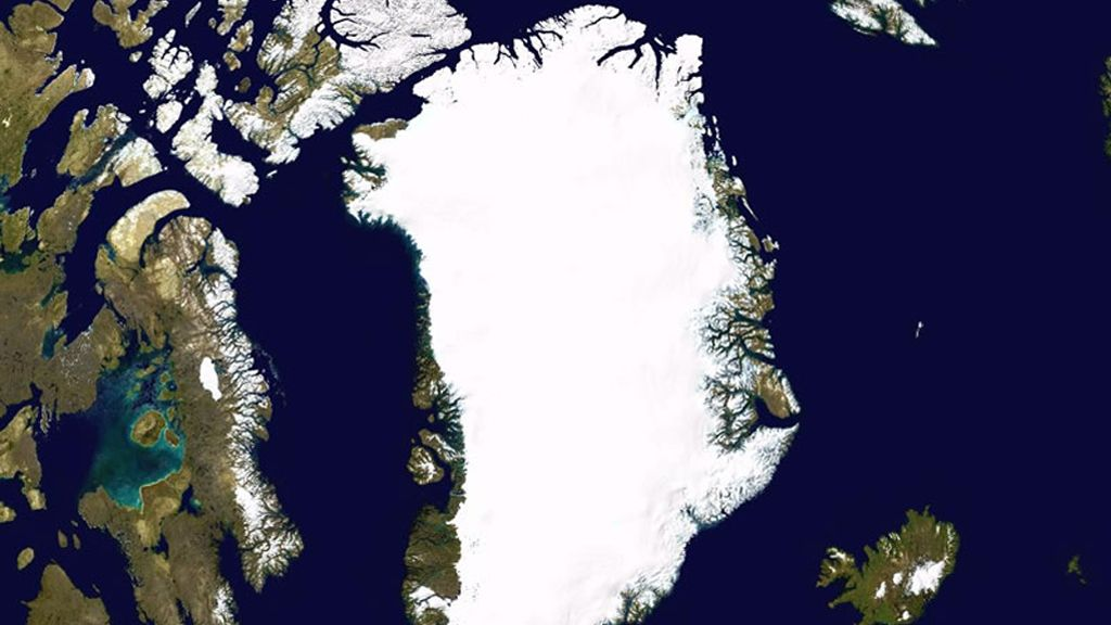 Greenland Ice Sheet seen from space