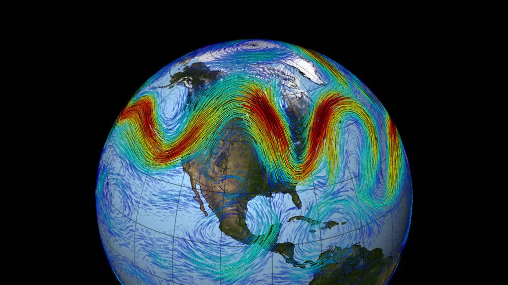 Jet stream in the Northern Hemisphere