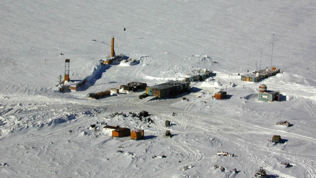 Vostok Station: Lake Vostok, one of the many Antarctic subglacial lakes is some 2.2 miles beneath the ice